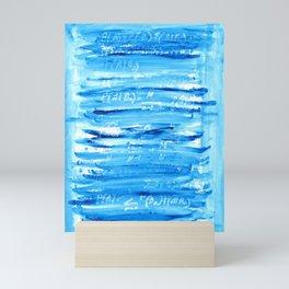 Blue mathematical pattern Mini Art Print