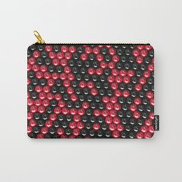Pattern of black and red spheres Carry-All Pouch