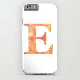 Letter E in warm tones iPhone Case