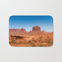 John Ford Point Panorama at Monument Valley Bath Mat
