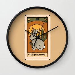 The Jackalope - Cryptid Tarot Card Wall Clock