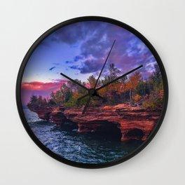 Apostle Islands Sunset Wall Clock