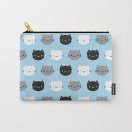 Cute Cats & Kawaii Kittens (Blue) Carry-All Pouch