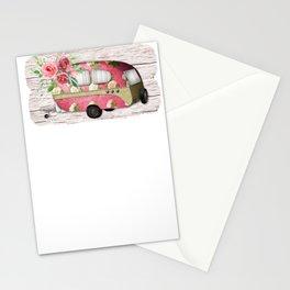 Vintage Trucks Vintage Floral Trailer Stationery Cards