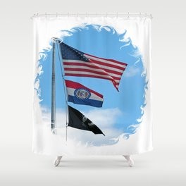 Iron County Flags Shower Curtain