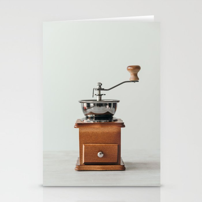 Wooden Coffee grinder Stationery Cards