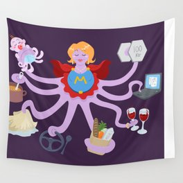Super Mom Wall Tapestry