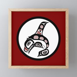 Northwest Pacific coast Haida art Killer whale Framed Mini Art Print