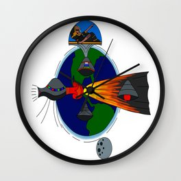 Mayan Astronauts Wall Clock
