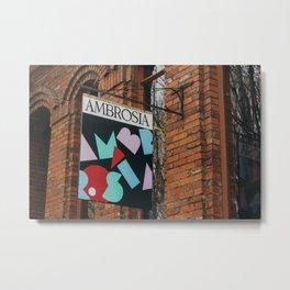 Ambrosia Sign - Eugene, OR Metal Print