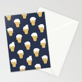 Meowlting Pattern Stationery Cards