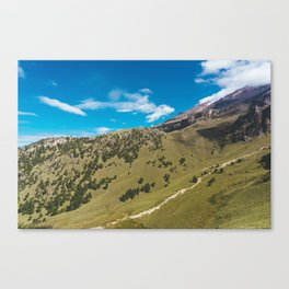 View Across the Valley Hiking up Iztaccihutal Volcano, Mexico City Canvas Print