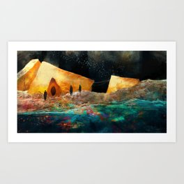 Sea of Colours Art Print