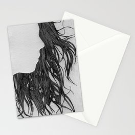 Hair in Profile Stationery Cards