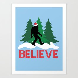 Cryptid Christmas Miracle Art Print