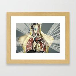 Double Exposure of human anatomy Framed Art Print