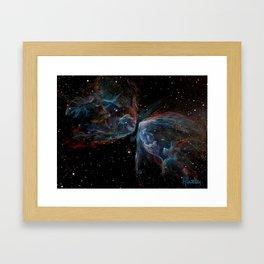 Butterfly Nebula Painting Framed Art Print
