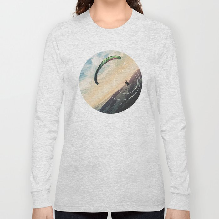 Skydive Gravity - Geometric Photography Long Sleeve T-shirt