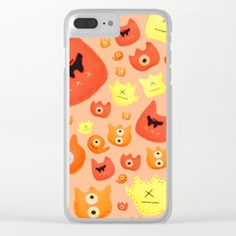 Monster faces Clear iPhone Case