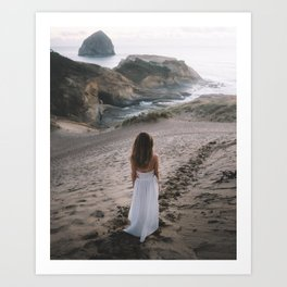 Long Walks on the Beach Art Print