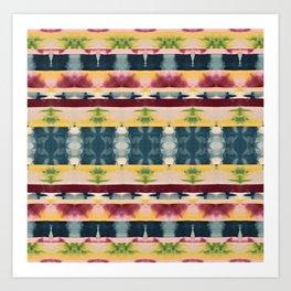 Mutliple Color Shibori Stripes Art Print