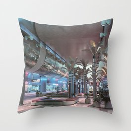Rewind Time Aesthetic Vaporwave Throw Pillow