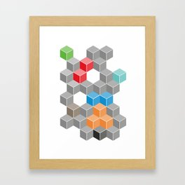 Isometric confusion Framed Art Print