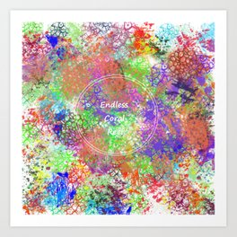 Endless Coral Reef Art Print