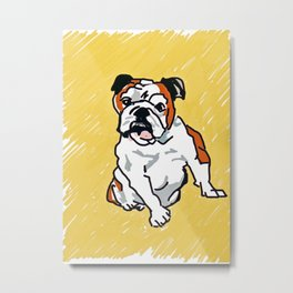 Bulldog Portrait Metal Print