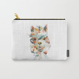 + Watercolor Alpaca + Carry-All Pouch