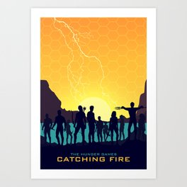 Catching Fire (Sunset Version) Art Print