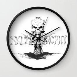 Skull Trophy Logo Wall Clock