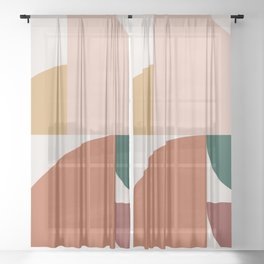 Abstract Geometric 10 Sheer Curtain