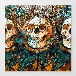 Old Skull Canvas Print