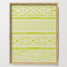 Chartreuse vintage pattern Serving Tray