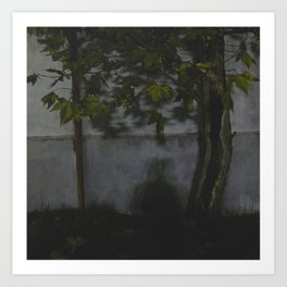 La sombra Art Print