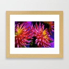 Flowers in the Moon Light Framed Art Print