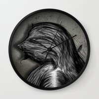 grumpy Wall Clocks featuring Grumpy by IOSQ