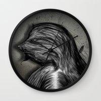 grumpy Wall Clocks featuring Grumpy by IOSQ