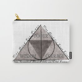 Tri Force & Deathly Hallows Carry-All Pouch