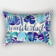 Tropical Wanderlust – Blue Rectangular Pillow