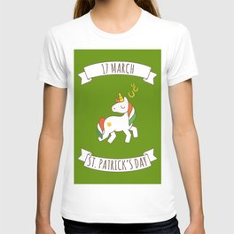 St. Patrick's Day Unicorn 2 T-shirt
