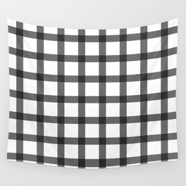 black and white plaid Wall Tapestry