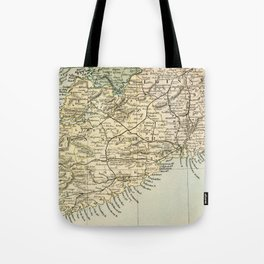 Vintage and Retro Map of Southern Ireland Tote Bag
