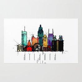 Atlanta, GA Watercolor Rug