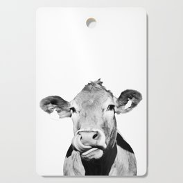 Cow photo - black and white Cutting Board