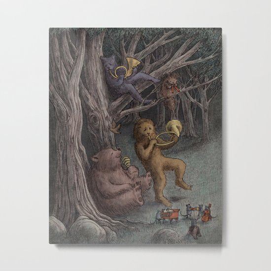 Forest Music  Metal Print