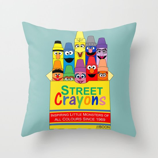 Color Me Sesame Throw Pillow