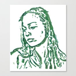 Fiona Apple in Lines Canvas Print
