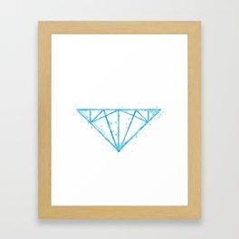 watercolor diamond Framed Art Print